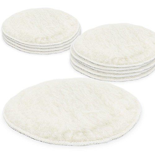 Preisvergleich Produktbild BITUXX® 150mm Polierpad Wollpad Polierfell Wollpuffer für Autopoliermaschinen (10x)