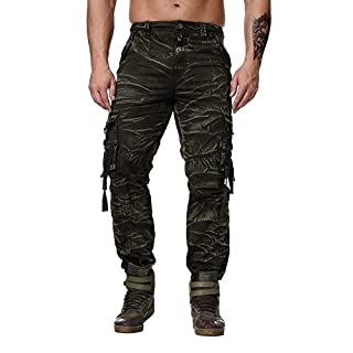 Herren Jogger Cargo Chino Freizeithose Sporthose Jogginghose Hosen Stretch Hose Jogginganzug Männer Trainingsanzug Baumwolle Jungen Slim Fit