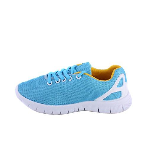 Blue Sport Baskets à lacets Roshe pompes léger Chaussures de détente Bleu - bleu