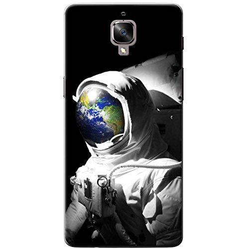 Astronautenanzug & Spiegelbild der Erde Hartschalenhülle Telefonhülle zum Aufstecken für OnePlus 3T