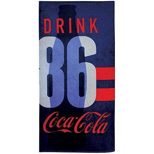 CTI 044460 Drap de Plage Coca Cola Sport Coton Blanc 360 g/m² 150 x 75 cm