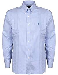 Amazon camicia azzurra casual bianche righe it Camicie Camicie wrqRw