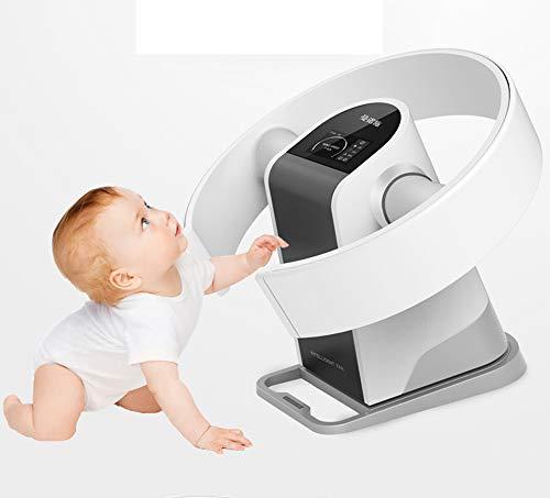 GAOWORD Bladeless-Lüfter, 2 In 1 Wandmontage + Schreibtisch Home Stille Desktop-Fernbedienung Lüfterloser Lüfter LED-Großbild-Handrüttler Mit Kopfschütteln Im Hauptbüro