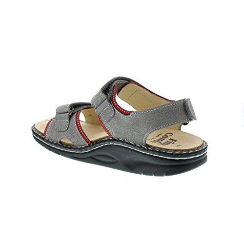 Finn Comfort Womens Yuma 1561 Nubuck Sandals Grigio (grigio)