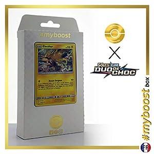 Electrode (Zapdos) 40/181 Holo - #myboost X Soleil & Lune 9 Duo de Choc - Box de 10 Cartas Pokémon Francés