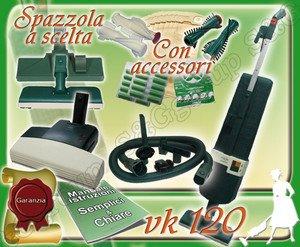 Set completo: aspirapolvere folletto vk120 usato + battitappeto + pulizie aeree