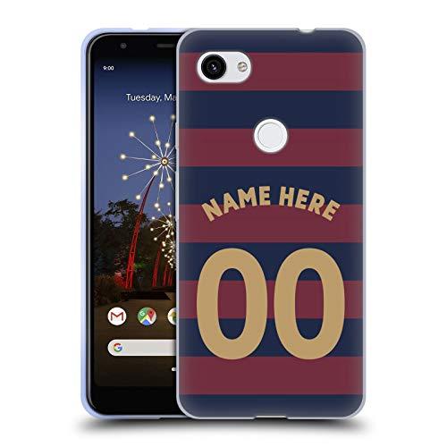 Head Case Designs Personalisierte Individuelle Newcastle United FC NUFC Away Kit 2018/19 Crest Soft Gel Huelle kompatibel mit Google Pixel 3a XL -