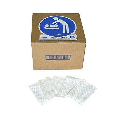 KEMMLIT Einweg-Wickelauflagen, 500 Stück Papier-Wickelunterlagen pro Karton, Wickelauflagen für hygienisch sensible Bereiche