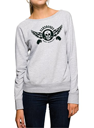 Hardbones Gym Sweater Girls Grigio Certified Freak-M