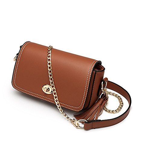 Studente semplice borsa estiva selvatica, versione coreana di borsa a tracolla, zaino obliqua, borse a catena ( Colore : Marrone ) Marrone
