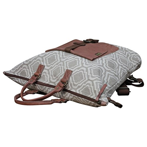 Desiderius Canvas Shopper Schulter Tasche Canvas Leder Vintage NEW + Tuch Gratis, Modell:Modell 2 Modell 1