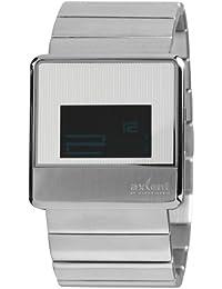 Axcent of Scandinavia Axcent of Scandinavia - Reloj digital de cuarzo unisex con correa de acero inoxidable, color plateado