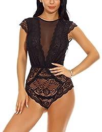STLOVE Ropa Interior Mujer Sexy Conjuntos, Erotica Atractiva Ropa de Encaje Ropa Interior -Pijama