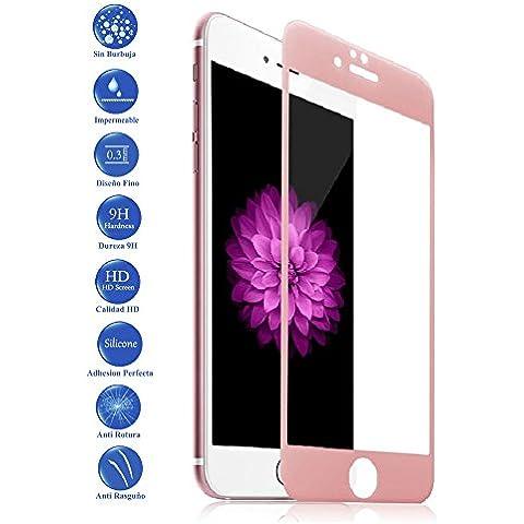 Ilovemyphone - Protector de Pantalla Cristal Templado Apple IPhone 6S Plus 5.5 Color Rosa Claro