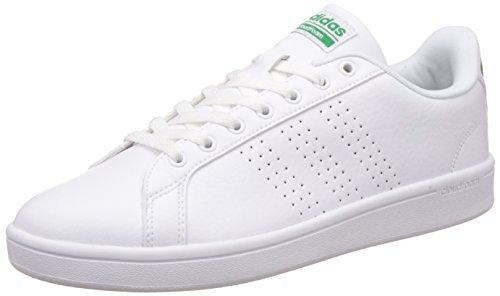adidas Herren Cloudfoam Advantage Sneaker, Weiß (Ftwwht/ftwwht/green), 44  (Herren Schuhe Weiße)