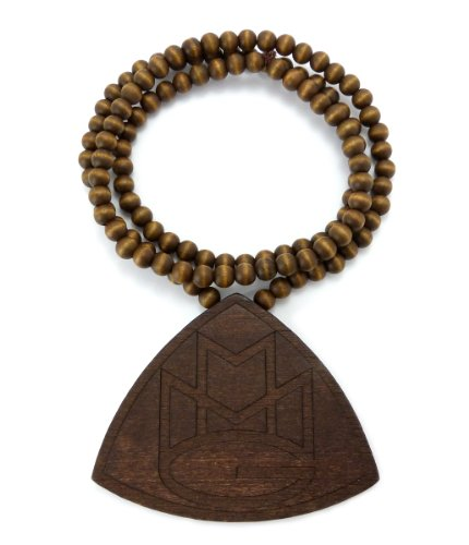 triangle-mmg-hip-hop-wood-pendant-914cm-wooden-bead-chain-necklace-brown-wx83brn