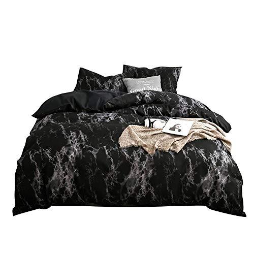 3Pcs / Set Conjuntos ropa cama estampado mármol