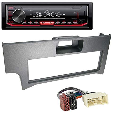 caraudio24 JVC KD-X262 1DIN MP3 USB AUX Autoradio für Nissan Primera P11 (2000-2002) Nissan Ipod