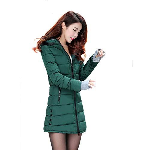LXIANGP Frauen dicken Mantel 2018 Winter Mantel Langen Absatz Größe unten Baumwolle gepolsterte Handschuhe Jacke Baumwolle Outdoor Street Jacke, 11 Farbwahl (Unten Mantel Lange)