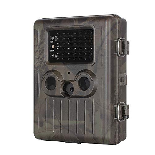 Ledu Kamera für Wilde Tiere, IP54 wasserdichte 2MP 1080P Trail und Game Waterproof Wildlife Scouting Camera 42 LED Infrarot-Nachtsichtkamera für die Jagd im Freien Gsm-lcd-tv