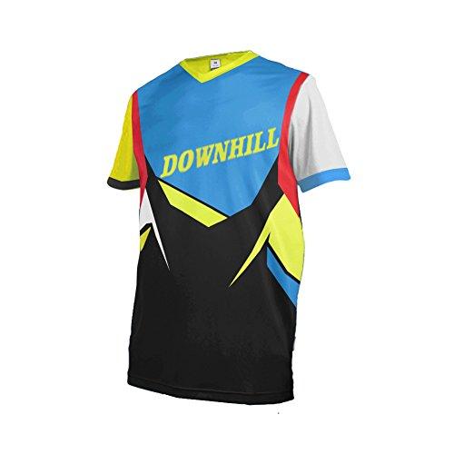 Uglyfrog Downhill Trikot Herren Mountainbike Freeride BMX Fahrradtrikot Kurze Ärmel Motocross MTB/Downhill Bekleidung Z13