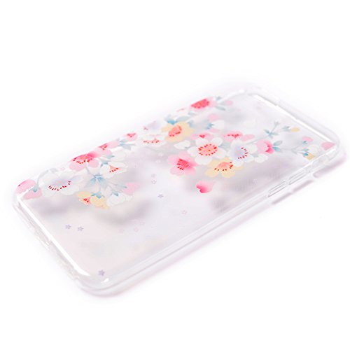 Beiuns pour Apple iPhone 6 Plus (5,5 pouces) Coque en Silicone TPU Housse Coque - TU117 Cœur TTU116 Fleurs de cerisier