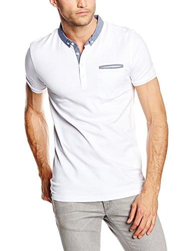 Celio Herren Poloshirt Depetit Weiß - Weiß (Optical White)