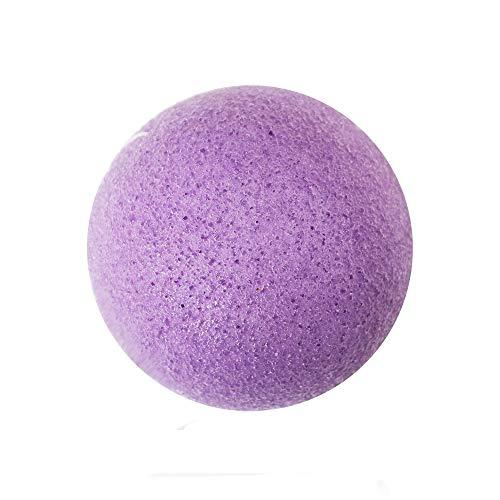 masrin 1 STÜCK natürliche mikrofaser reiniger reinigung schwamm puff reinigung make-up natürliche konjac baumwolle waschen gesicht (Lila)