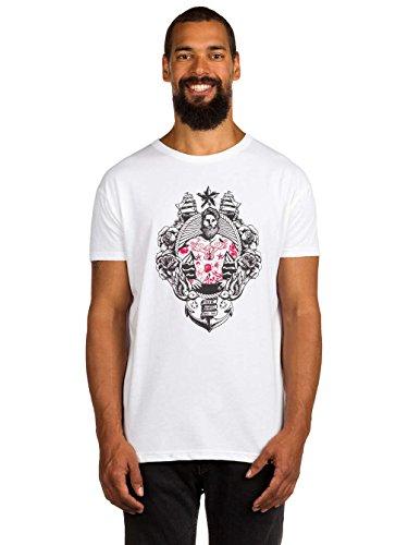 Derbe Herren T-Shirt Tatouage grau - weit geschnitten White