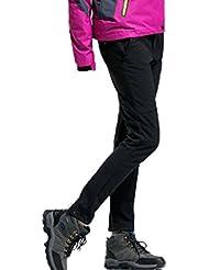 Demarkt Impermeable al Viento de Pantalónes de trekking para Mujer Color Negro Talla M