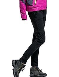 Demarkt Impermeable al Viento de Pantalónes de trekking para Mujer Color Negro (M)