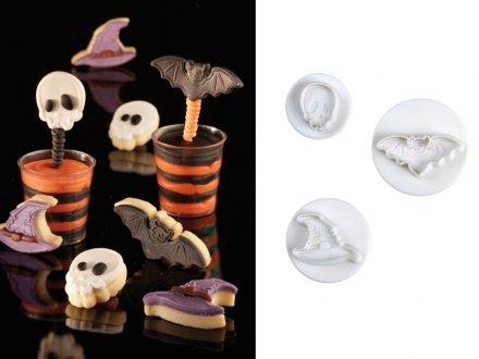 Pavoni–Kuchen Dekoration Fondant Ausstecher–Halloween Kleines Set von 3
