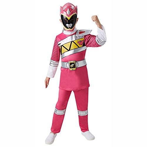 Deluxe Ranger Power Kostüm Pink - Pink Power Ranger Deluxe Kinder Gr. S - L Karneval Kinderkostüm Superheld Held S