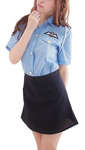 Paplan Frauen Verführerisch Uniform für Army Navy Air Force Blau1