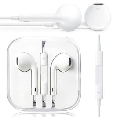 Datalact TMStereo Super Bass Headphone/handsfree with 3.5 mm Earphones with mic Compatible for Apple iphone5/5s/6/6s/7/7 Plus/8/8 Plus/iPhone X - White