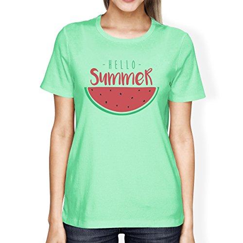365 Printing T-shirt - Manches Courtes - Femme Taille Unique Hello Summer Watermelon