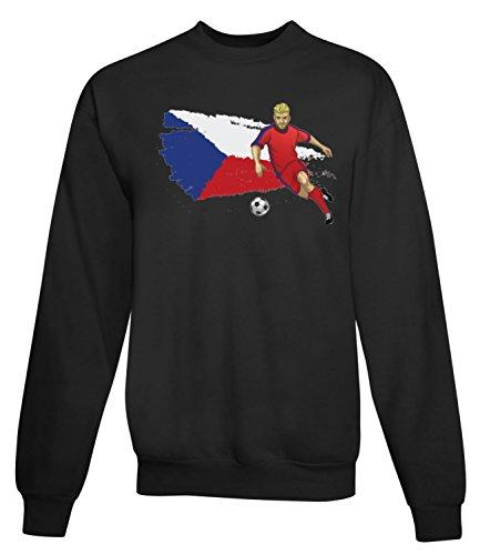 Billion Group | Czech Republic | Football Sport Illustration | Women's Unisex Sweatshirt Noir
