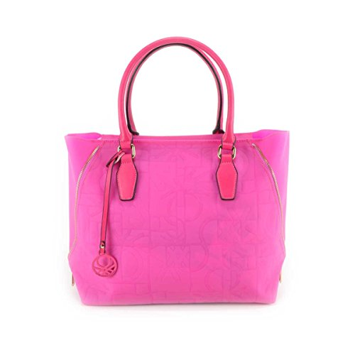 Borsa donna Benetton Shopping in Pvc - Mod. Dana - Col. Fucsia