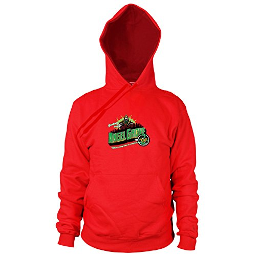 Planet Nerd Greetings from Angel Grove Green - Herren Hooded Sweater, Größe: XXL, Farbe: rot