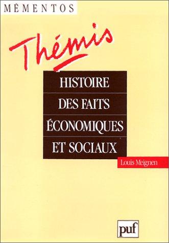 Histoire des faits conomiques et sociaux