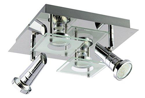 Trango Quadrat LED Design Badleuchte, Deckenleuchte