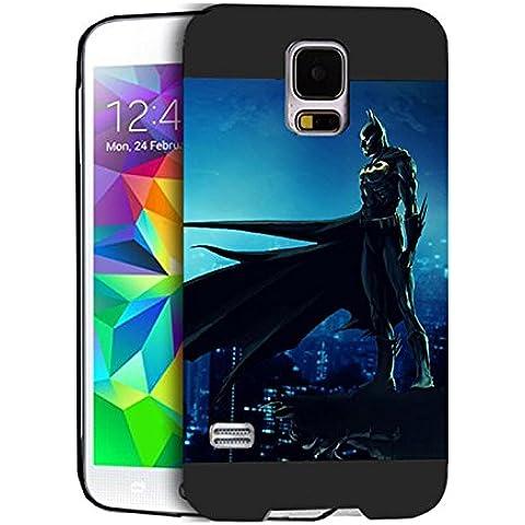 Batman Samsung S5 I9600 Custodia Protettiva Batman - [ DC Comics ] Durevole Galaxy S5 I9600 Case Cover Batman Samsung Galaxy S5 I9600 Skin For Ragazzi
