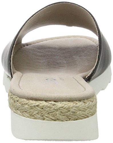 Gabor Damen Comfort Offene Sandalen mit Keilabsatz Schwarz (schwarz (Jute) 51)