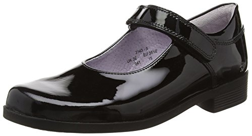 Start Rite Samba Large, Mary Jane Fille Noir (Black Patent)