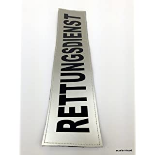 RETTUNGSDIENST 3M Reflex-Rückenschild 42x8cm silber matt