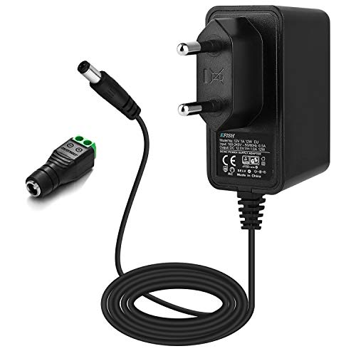EFISH 12V 1A 12W Adaptateur d'alimentation du transformateur,pour Les appareils ménagers,CCTV Camera,Keyboard,Routers,Hubs,LED Strips,Telekom,T-COM,Speedport,Radiowecker,Scanner,Switch,CE/GS Approuve
