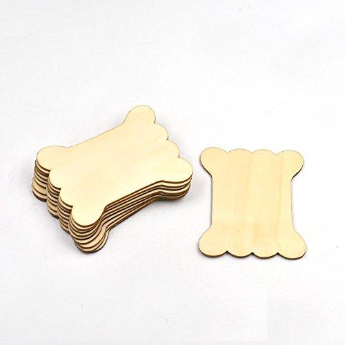 2050100PCS Gewinde Spulen Zylinder Holz Craft Enden Holzplanken für Band aus Spitze Line (Ribbon Spool Lace)
