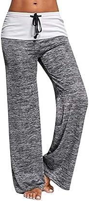 Yudesundo Womens Pants Casual Trousers - Straight Leg Pants with Drawstring Tracksuit Bottoms Comfortable Paja