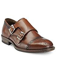 Teakwood Genuine Real Leather Mens Slip-ons Monk Strap Formal Shoes