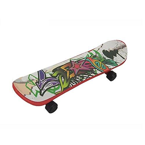 Hilai 1pcs Holzgriffbrett, kleine Mini Cool Skateboard Komplett Maple Wheel Board Spielzeug Geschenk für Kinder, Junge Mädchen Anfänger, Student, Sport Liebhaber zufällige Farbe -